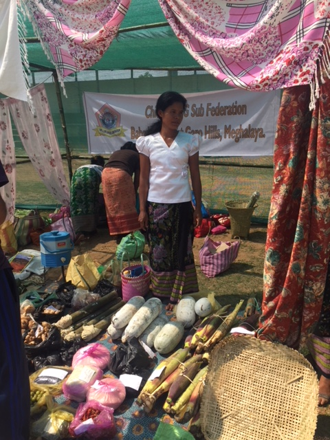 Self Help Groups sell products at market