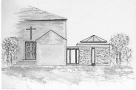 Artists impression of the Church with New Extension